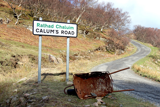 Calum's Road with wheelbarrow, Raasay