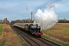 """GWR MODIFIED HALL 4-6-0 No. 6990 """"Witherslack Hall"""" ~ Great Central Railway ~ Jan 30th 2016"""