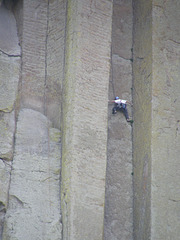 Rock Climber on Devil's Tower
