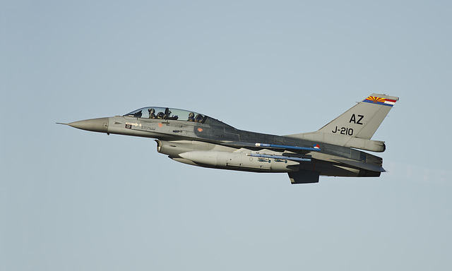 Royal Netherlands Air Force General Dynamics F-16B Fighting Falcon J-210