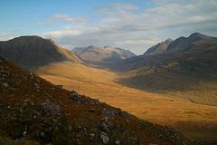 Half-way down from Tom na Gruagaich