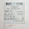 Ticket for The Third Man in the Burg-Kino