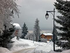 soir d'hiver à CREST VOLAND