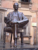 Monument and statue of Giacomo Puccini.