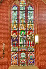 Sternberg, das Reformationsfenster der Stadtkirche