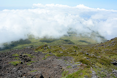 Azores, Look Down the Slopes of the Pico Volcano