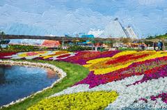 Flower Garden Festival 4 Topaz Filter Impressionistic