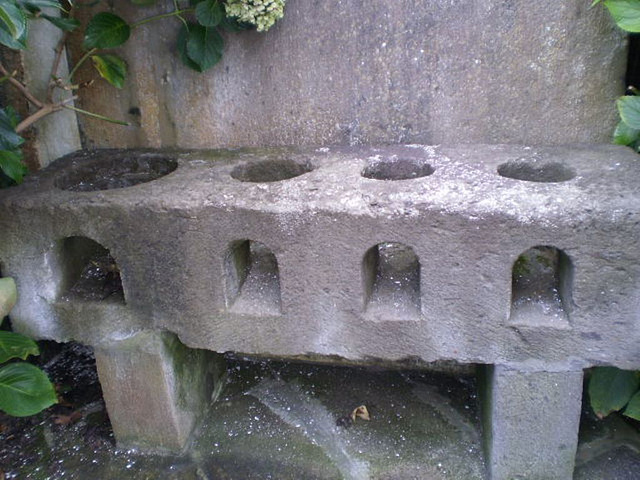 Stone stove.