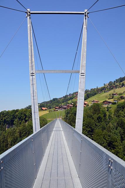 Die Sigriswiler Hängebrücke über die Guntenschlucht
