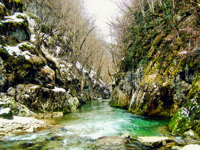 Ugar river - entry in the canyon