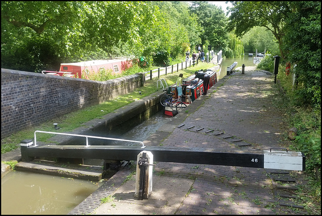 where canal meets the Thames