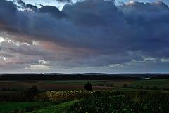 Das Sturmtief Herwart zieht ab - The storm front Herwart pulls away