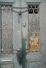 Vila real de Santo António, quaint and old door