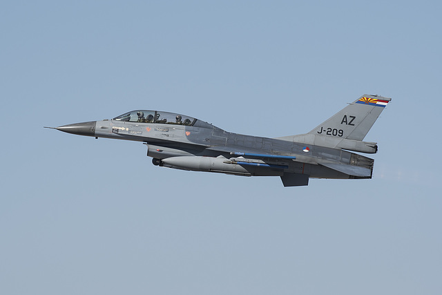Royal Netherlands Air Force General Dynamics F-16B Fighting Falcon J-209 (83-1209)
