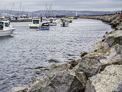 Harbour breakwater Brixham Marina