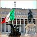 Roma : Il tricolore sventola sull'Altare della Patria