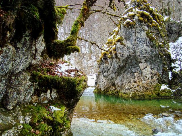 Ugar river in winter