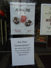 Flying Pig mini-cakes, at Graeter's