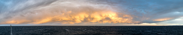 Storm clouds over Barents sea