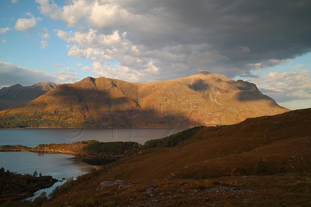 Liathach (western parts) across Loch Torridon