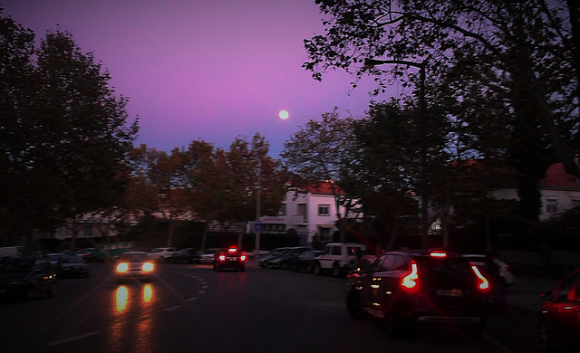 There are a few moons on the street