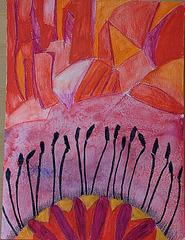 Partial Poppy. Inktense pencils