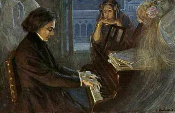 Rencontre de Frédéric Chopin et George Sand