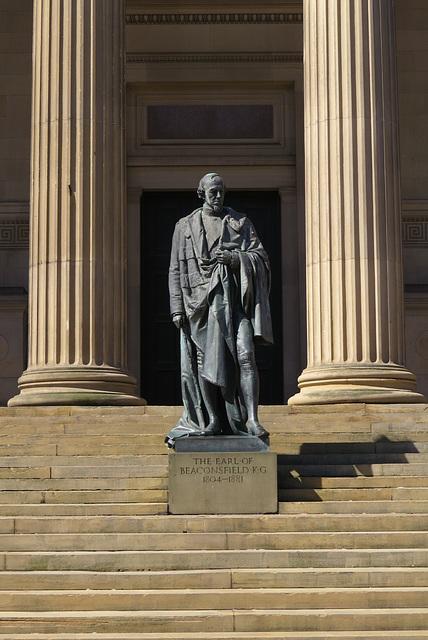 disraeli statue, liverpool