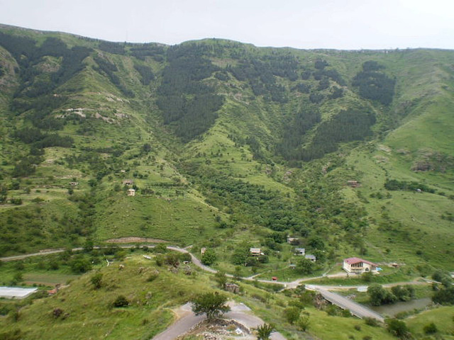 View across River Kura valley.