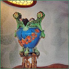 Barcellona : Una ceramica di Casa Batlló