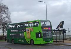 DSCF5776 Konectbus 631 (SN65 OAM) at Norwich Airport - 11 Jan 2019