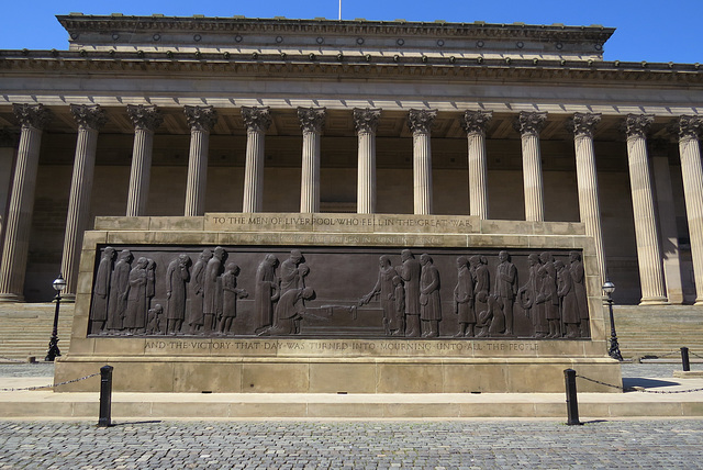 st. george's hall, and cenotaph, liverpool