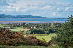 A view of the River Dee estuary and the coast of Wales from Thurstaston