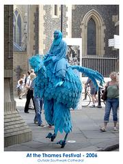 Blue bird at the Thames Festival 17 9 2006