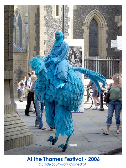 Blue bird at the Thames Festival 17 9 2006