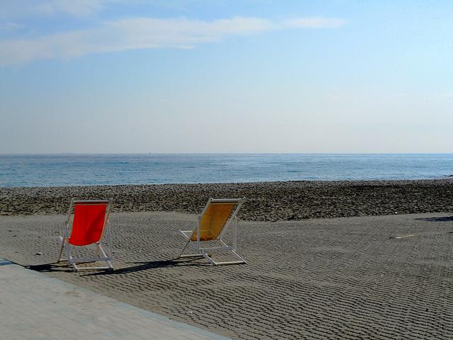 La plage en Octobre