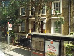 Dalston Lane bus stop