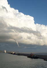 Waterspout Off of Civitavecchia Harbor