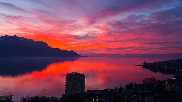 110114 Montreux crepuscule