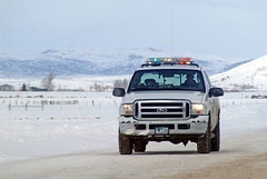 Wyoming Police Truck