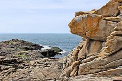 Presqu'île de Quiberon (56) 10 juin 2013. La Côte Sauvage.