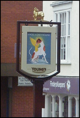 new Angel & Greyhound sign