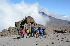 Kilimanjaro, My Friends at the Mark of the Kibo Camp (4720m)
