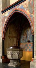 DE - Köln -St.  Kunibert,Taufbrunnen