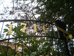 Gate to Betley Court's gardens.