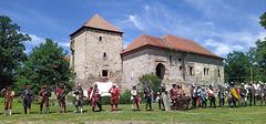 El historia solenaĵo en la mezepoka fortikaĵo Kestřany apud Písek