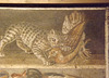 Detail of a Mosaic with Animals from the House of the Faun in Pompeii in the Naples Archaeological Museum, July 2012