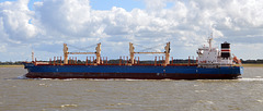 Frachter NORD HOUSTEN auf der Unterelbe richtung Hamburg