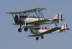 Avro Tutor and De Havilland Tiger Moth