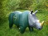 A peaceful rhinoceros.